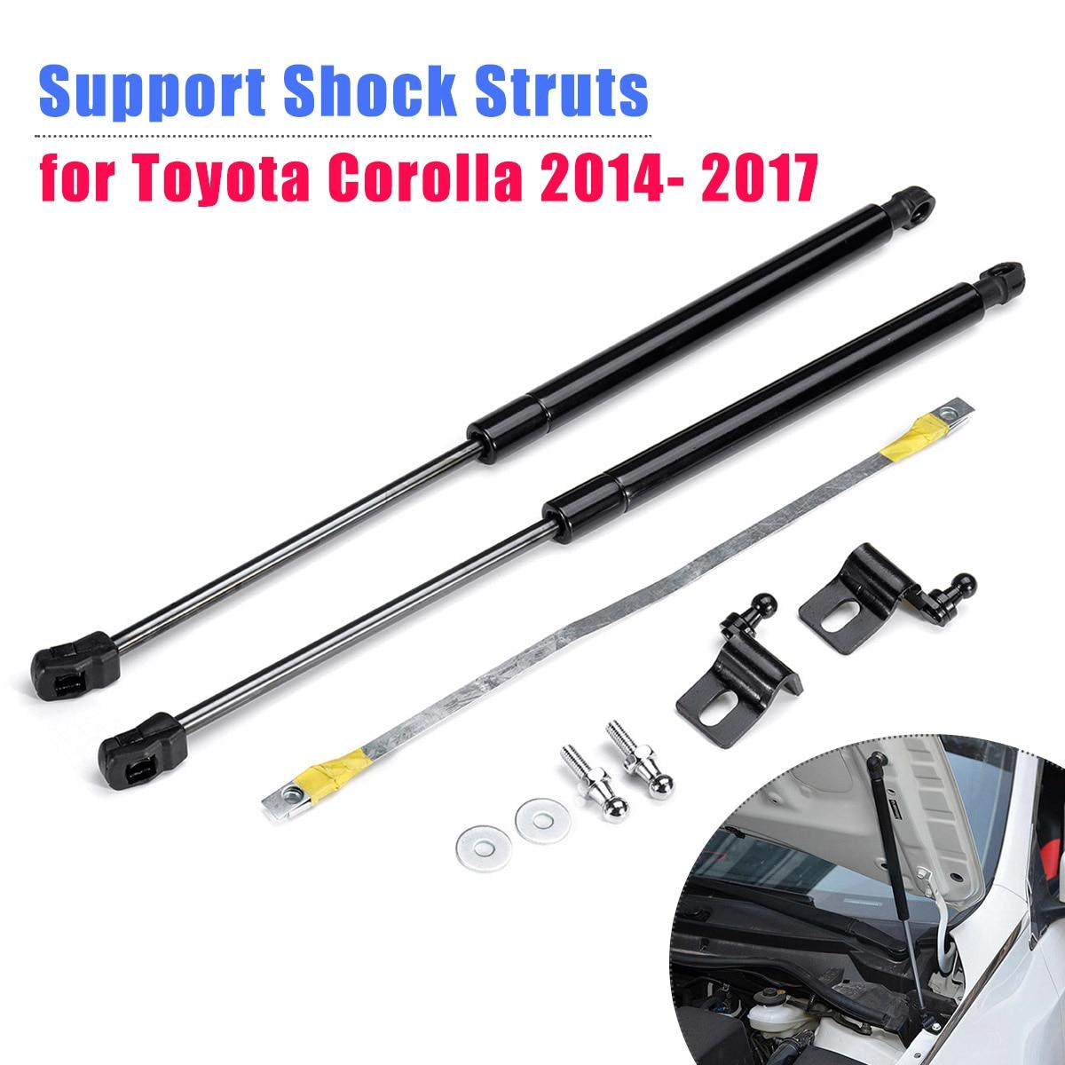 1 par de puntales de Gas de choque con soporte de capó delantero para Toyota Corolla 2014 2015 2016 2017 accesorios para automóviles