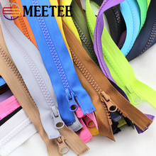10pcs Meetee 5# 70/90cm Resin Zipper Open End Zip for Tent Jacket Coat Tailor Garment Bags Home Textile Sewing Crafts Accessory