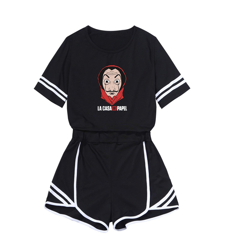2019 New Style Straykidst T-shirt Two-Piece Set Sports Navel Set WOMEN'S Dress Casual Slim Fit Short Skirt