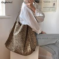 Bandoleras de lona para mujer, bolso de hombro femenino de gran capacidad con estampado de leopardo, multifunción, estilo Retro Vintage