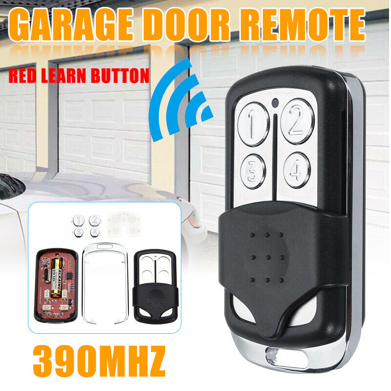 4 Button Garage Door Gate Remote Control Key 390MHz for Liftmaster Chamberlain|Remote Controls|   - AliExpress