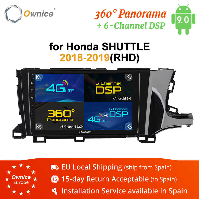 Ownice pour Honda navette 2018 2019 RHD k3 k5 k6 voiture GPS Radio Android 9.0 Octa Core DSP SPDIF 4G LTE 360 Panorama voiture lecteur DVD