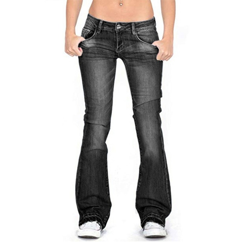 New Solid Color Skinny Slim Jeans Women Small Bell Pants Jeans Brand Cotton Retro Women Stretch Mid-waist Jeans XS-4XL