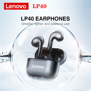 New Lenovo LP40 TWS Wireless Earphone Bluetooth 5.0 Dual Stereo Bass Touch Control IP54 life waterproof LP2 XT91 Earphones