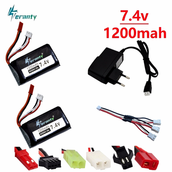 7.4V 1200mAh 803063 30C Lipo battery For Yi zhang X6 H16 MJX X101 X102 remote control quadrocopter 7.4V 1200mAh 2S lipo battery image
