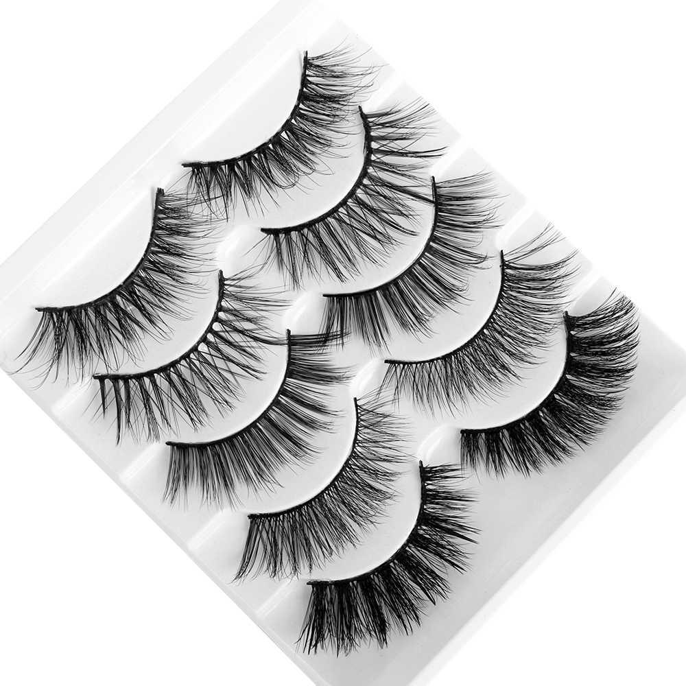 3D норковые волосы, 5 пар, смешанные стили, накладные ресницы, полный объем, натуральные ресницы, пернатые, расклешенные, различные, упаковка, ресницы ручной работы