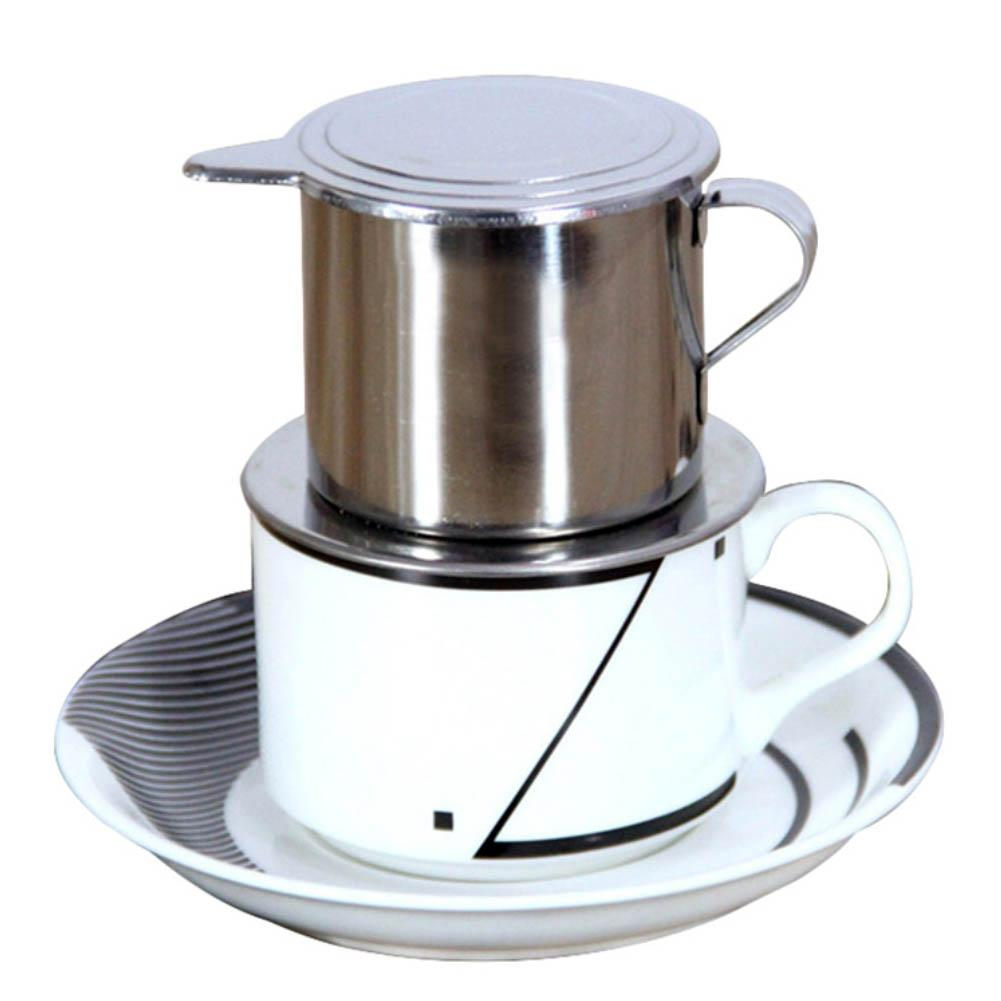 Durable 50/100ml 95℃ <font><b>Vietnam</b></font> Style Stainless Steel <font><b>Coffee</b></font> Drip Filter <font><b>Maker</b></font> Pot Infuse Cup Portable home office travel camping image