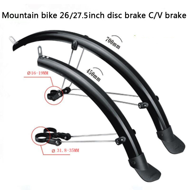 CoolChange Bicycle Mudguard Front Rear Set 26 MTB Mountain Bike Fender with Led