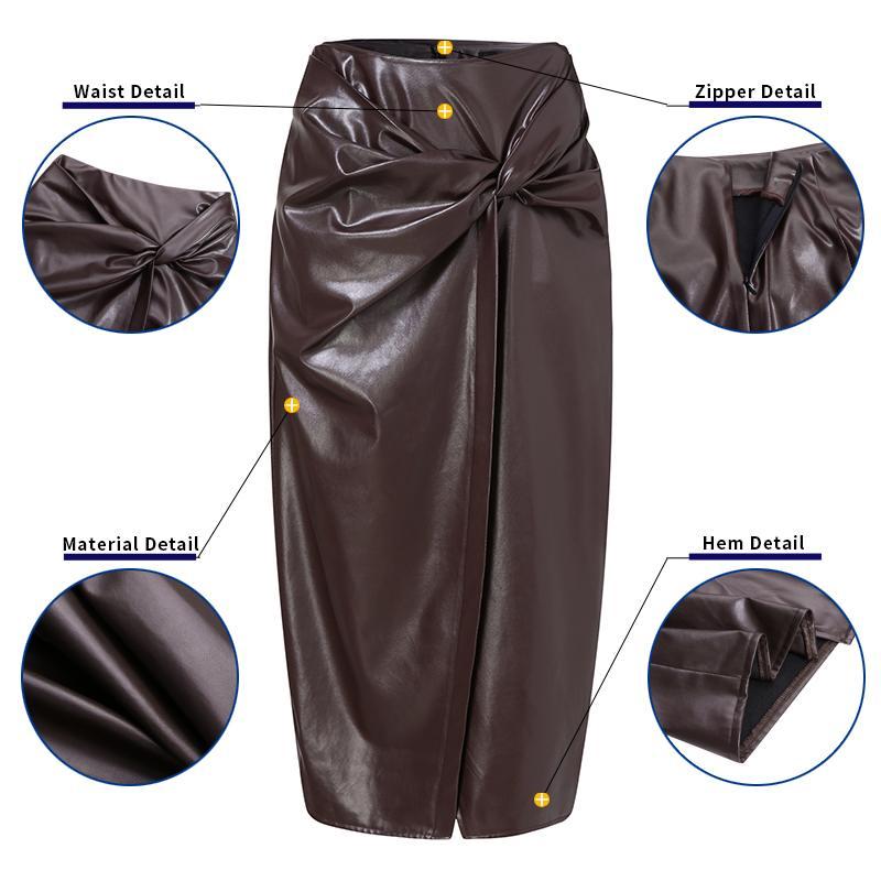 Купить женская облегающая юбка celmia из искусственной кожи 2021 модная