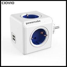 Allocacoc USB Ổ Cắm Điện Dây EU KR Cắm PowerCube 4 Thông Minh Ổ Cắm Điện 250V 3680W Mở Rộng Nhà văn Phòng