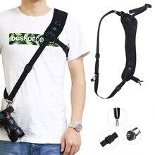 アンチスリップクイック迅速なショルダーベルトカメラネックショルダースピードキヤノンeos 7D 5D 5D2 5D3 650D 60Dデジタル一眼レフ