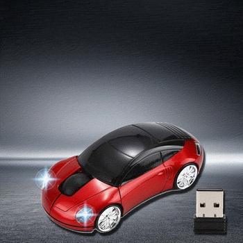 Creative Computer Accessories 2.4GHz 3D Optical Wireless Mouse Mice Car Shape Receiver USB For PC Laptop image