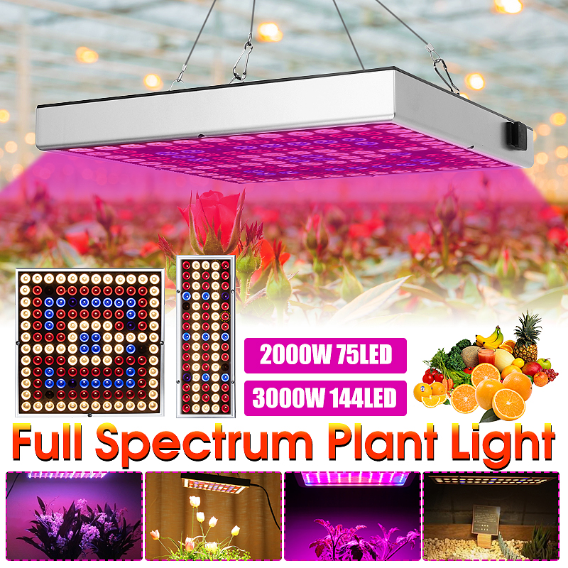Smuxi 200W/300W Full Spectrum Plant Lighting Growing Lamps LED Grow Light  Fitolampy For Plants Flowers Seedling Cultivation