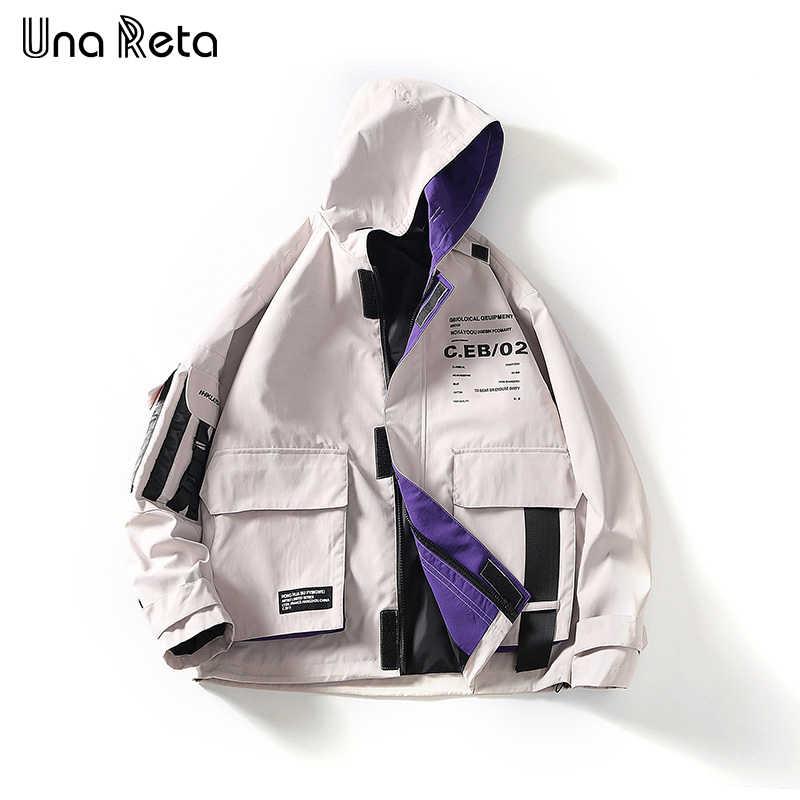 Widget można wykorzystywać jako karaoke Una Reta mężczyzna bluza z kapturem kurtki nowa klamra kieszeń projekt płaszcz kurtka mężczyźni Streetwear Clothest drukowanie na co dzień Hip hop z kapturem płaszcz mężczyźni