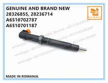GENUINE AND BRAND NEW DIESEL COMMON RAIL FUEL INJECTOR 28326855, 28353991, 28236714, A6510702787, A6510701187