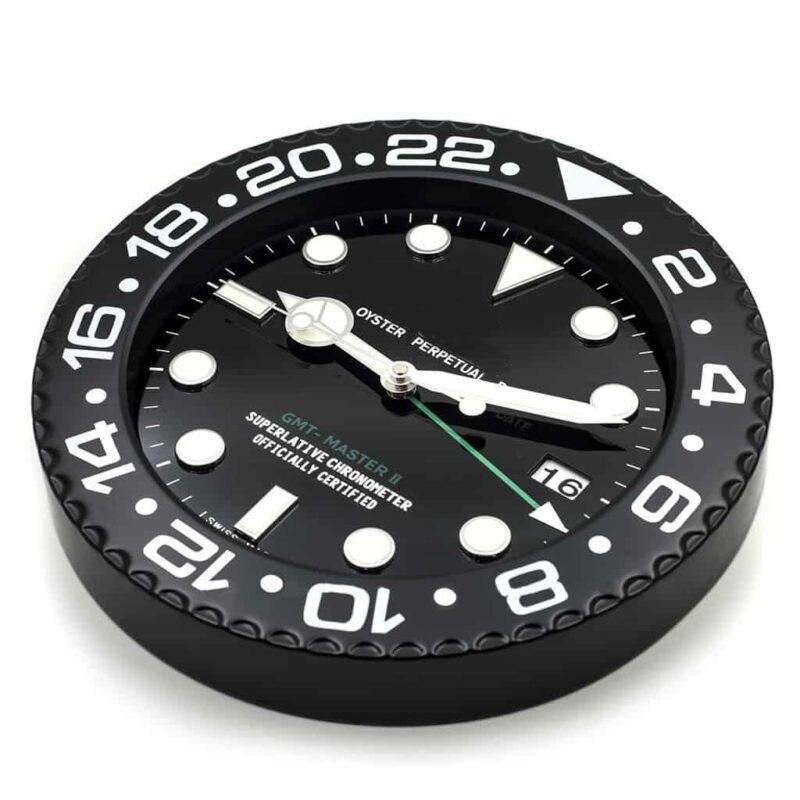 Ev ve Bahçe'ten Duvar Saatleri'de Aydınlık duvar saati duvar oturma odası için Logo ile tarih ile lüks Metal duvar saati Vintage takvim saatleri'da  Grup 2