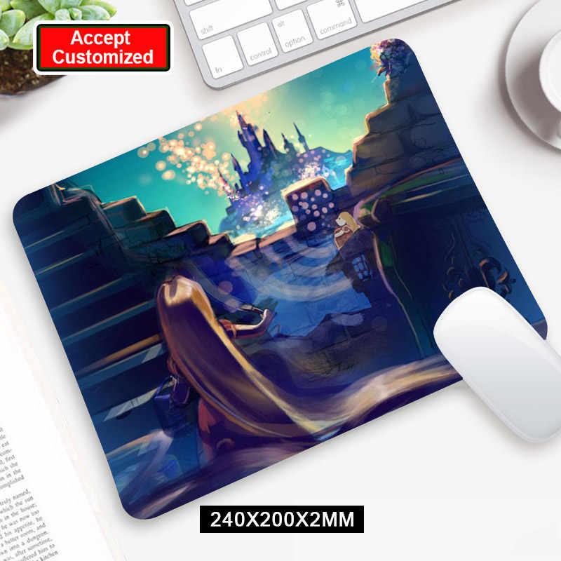 Anime Lucu Tangled Rapunzel Permainan Komputer Mouse Pad Gamer Keyboard Mouse Mat Mousepad
