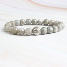 Linxiang Fashion Jewelry 8MM Flash Bracelet for Charming Amulets Men and Women Increases Crystal Energy