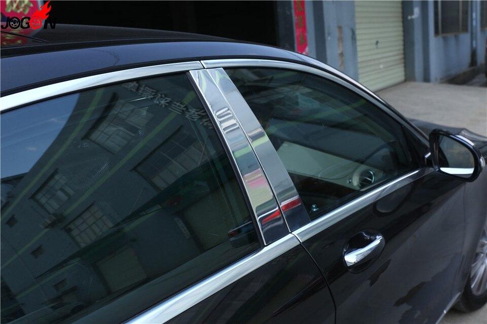 Aluminum Alloy Car Window B-pillars For Mercedes Benz W222 S-Class 2014-2018