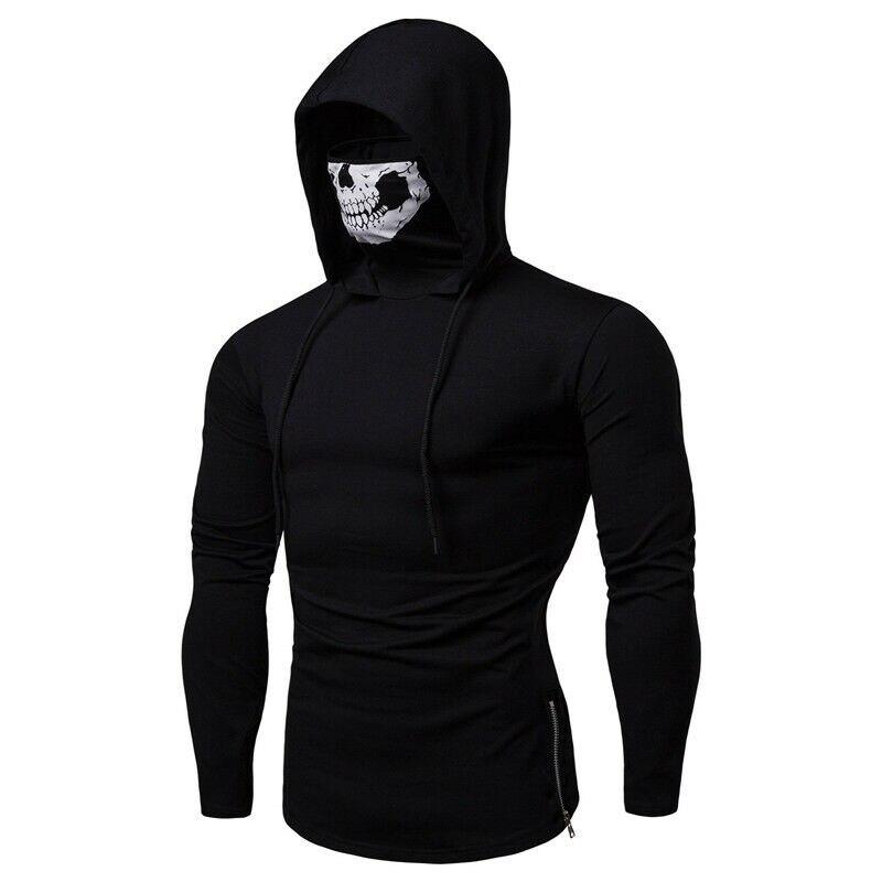 3XL Plus Size Fashion Colorful Hoodies Men's Clothes Autumn Sweatshirts Men Hip Hop Streetwear Solid Man Zipper Punk Hoodies