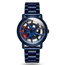2020 Sanda Men Watches Fashion Creative Car Rim Watches Blue Stainless