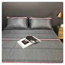 Summer sleeping mat bedding mattress Cold mat with ice silk Hot Balloon Bed Sheets 3pcs Set Bed Include Pillowcases Cover new