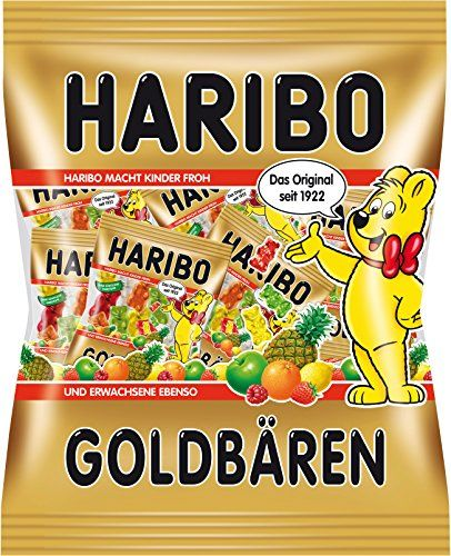 Haribo Goldbears Mini, Winegums, Fruit Gums, Bears, Sweets, Bonbon, In Bag, 250g