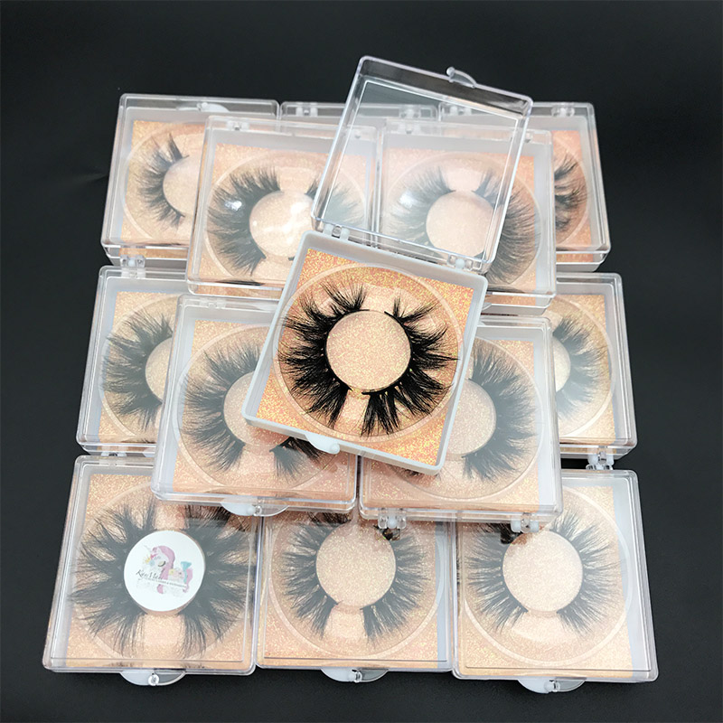 Custom Box MIKIWI 24 Styles 5D Soft Dramatic Eye Lash High Volume Makeup Tools 100% Handmade Natural Thick  Long False Eyelashes