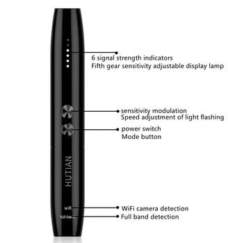 Hidden Cam Pen Anti Spy Camera Detector Bug Gadget Wireless RF Signal Finder Audio GSM Anti GPS Car Tracking Wiretapping Scanner 4