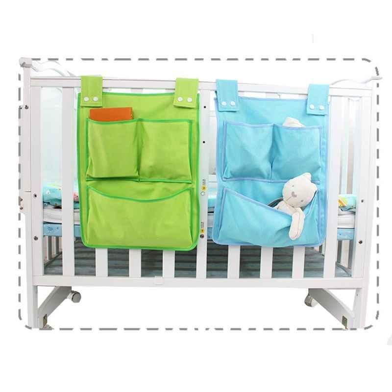 Dibujos Animados habitaciones adorno colgante para dormitorio infantil bolsa de almacenamiento de pañales para cuna recién nacido juego de cama cuna organizador de juguete 45*35cm