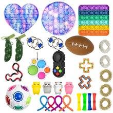 Plastic Push Bubble Sensory Autism Antistress Kit Toys Adult Children Puzzle Desktop Squeeze Relief Stress Fidget Decompression