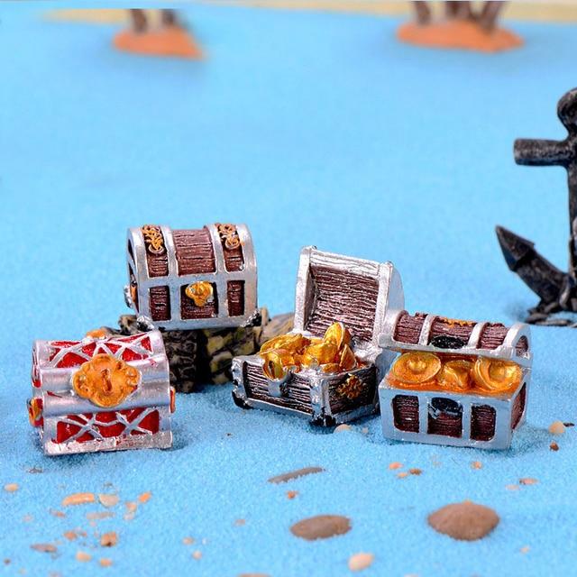 Treasure Chest Pirate Gold Coin Micro Landscape  2