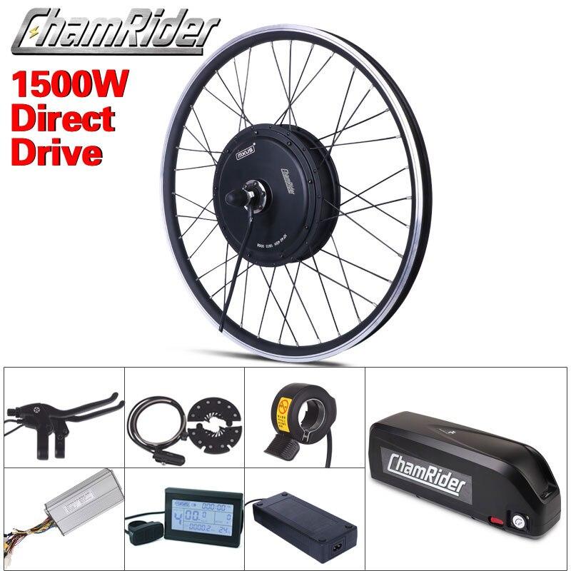 Бесплатная доставка 1500 Вт для е-байка комплект для переоборудования электрического велосипеда код приводной двигатель MXUS 48V 52V 13AH 17AH хайлон ...