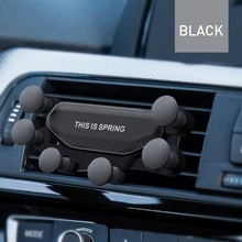 Gravity Car Holder For Phone Air Vent Clip Mount No Magnetic