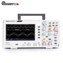 Mustool mds2112p osciloscópio de armazenamento digital de canal duplo com 100mhz de largura de banda 1gs/s taxa de amostragem 7 polegada tft tela colorida