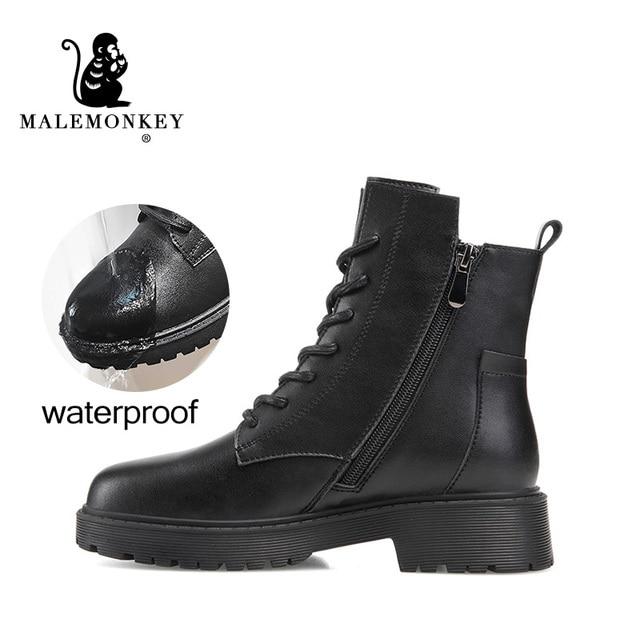 Модные Зимние Женские ботинки Из Натуральной Кожи 2