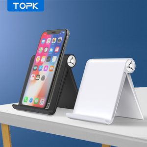 TOPK Phone Holder Stand for iPhone Xs Max XR Foldable Mobile Phone Stand for Samsung S9 S8 Note 9 Xiaomi Tablet Stand Desk Mount(China)