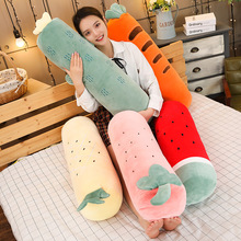 Simulation Plant Plush Toys Stuffed Cactus Strawberry Carrot Watermelon Pineapple Soft  Lovely Gift for Girl Food Pillows
