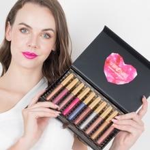10 Colors set Glitter Lipgloss Makeup Waterproof Lasting Shining Diamond Liquid Cosmetics Professional Levre Rouge