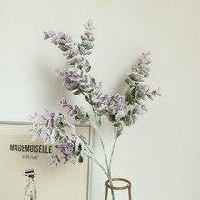 цена на 62cm Eucalyptus leaf Artificial Plant Fake Plants Wedding Flowers Home Party Decoration Green Garland