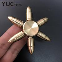 Punta del dedo de mano de aleación de latón para niños, Spinner dorado, juguete de cobre, rodamiento de Metal, alivia el estrés, accesorios de oficina