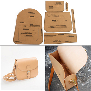 1Set DIY Kraft Paper Template New British Saddle Bag Crossbody Bag Leather Craft Pattern DIY Stencil Sewing Pattern 28cm*20cm