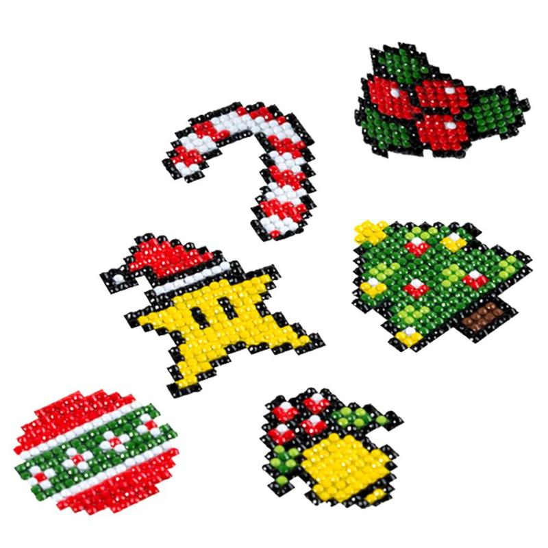 DIY Patterns Diamond Embroidery 5D Diamond Painting For Children Round Diamond Crafts Double Sided Sticker Christmas Decoration