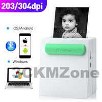 Impresora de foto para móvil, Mini impresora de bolsillo, impresora portátil de mano, impresión térmica, conexión USB, Impresoras