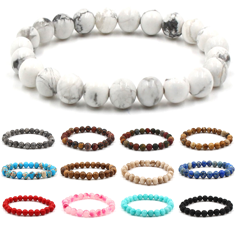 Classic Volcanic Rock And Lave Stone <font><b>Bracelets</b></font> Women <font><b>Beaded</b></font> <font><b>Mens</b></font> <font><b>Bracelets</b></font> 2019 Friendship <font><b>Bracelets</b></font> For Women Accessories image