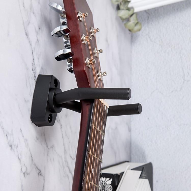 1 PCS Guitar Hanger With Screws Wall Mount Stand Hook Holder Rack Bracket Display Bass Ukulele Guitar Accessories