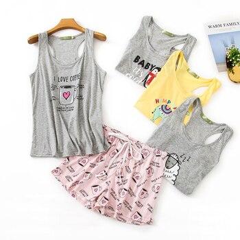 Summer Cozy Sleeveless Shorts Pajama Sets Women