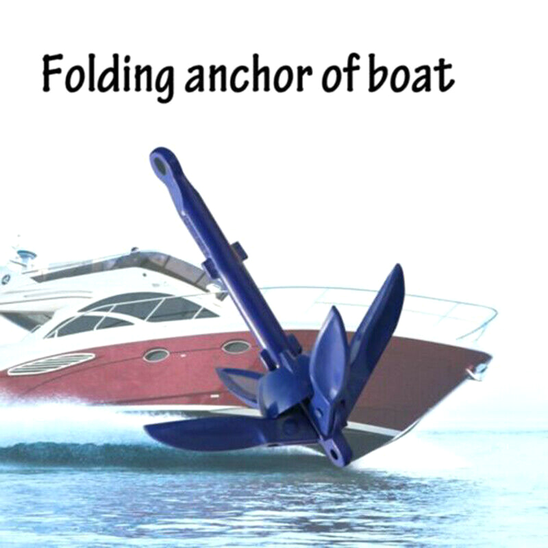 Newly Folding Anchor Fishing Accessories For Kayak Canoe Boat Marine Sailboat Watercraft BFE88