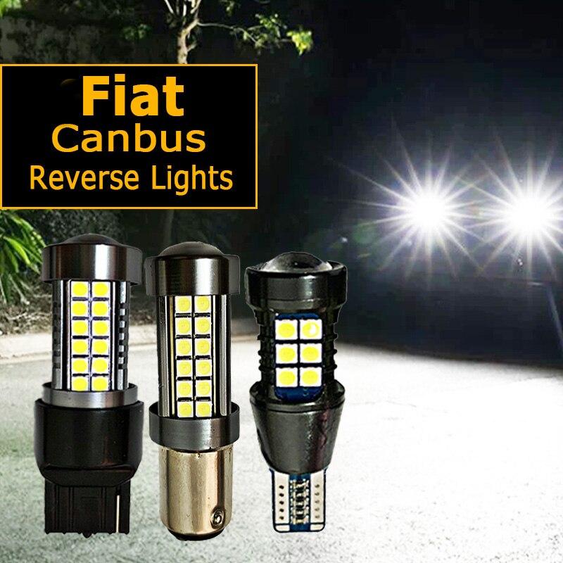 1 adet araba LED ters ampul W16W T15 W21W P21W BA15S Fiat freemont için 500 500L 500X albea ducato linea fikir palio panda uno