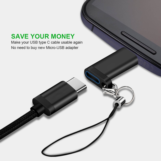 Type C Female to Micro USB Male Cable Adapter Converter for Xiaomi Redmi Huawei Meizu Samsung Galaxy S7 Microusb Android Phone 4